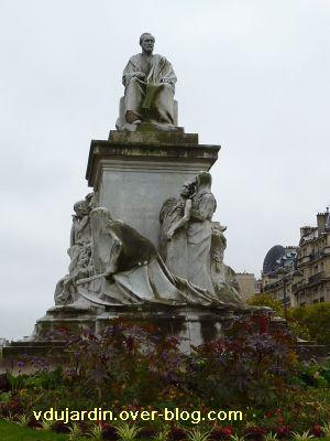 Paris, monument à Pasteur par Falguière, 02, le groupe sculpté de face