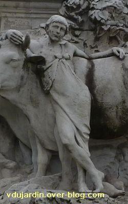 Paris, monument à Pasteur par Falguière, 14, le bouvier