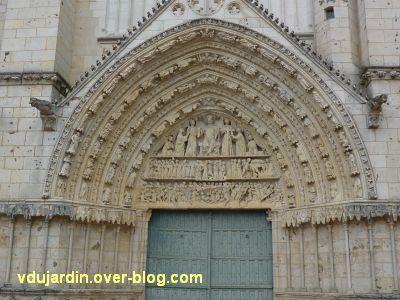 Poitiers, le portail central de la cathédrale, 1, vue générale