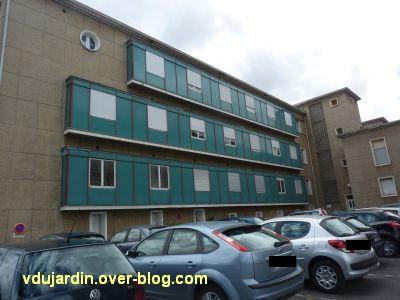 Poitiers, l'ancien sanatorium, 6, la façade postérieure