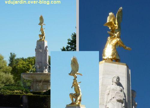 Tours, le mémorial américain, 3, trois vues de détail