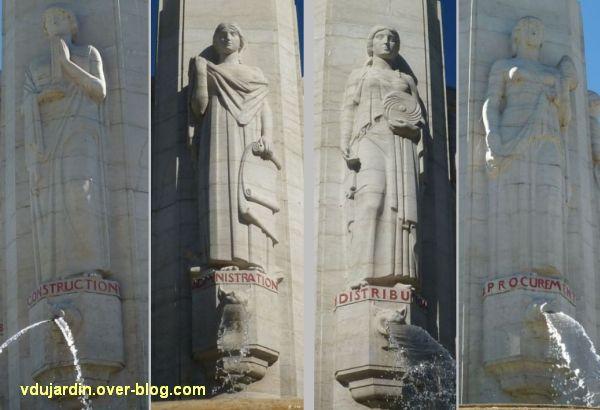 Tours, le mémorial américain, 4, les quatre allégories