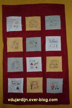 La finition du SAL calendrier 2010 de Petite Fée Nougat : l'application des poches