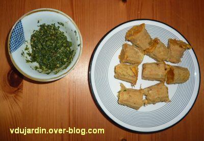 Cuisine mélange de saveurs, 3, bouchées aux lentilles et pesto de fanes de carottes