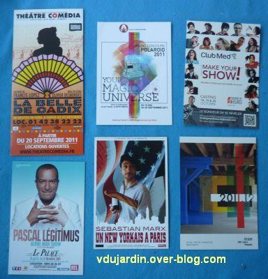 Mon anniversaire 2011 par Capucine, 4, cartes à publicité