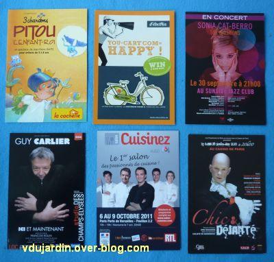 Mon anniversaire 2011 par Capucine, 5, cartes à publicité