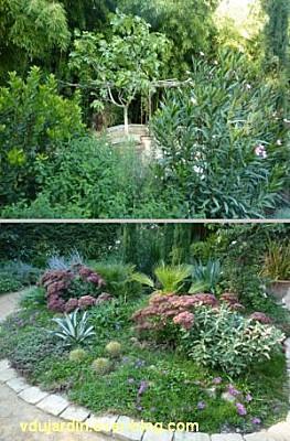 Chaumont-sur-Loire, festival des jardins 2011, deux vues du jardin 10 en automne (30 septembre)