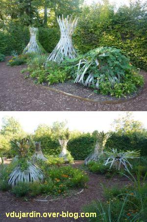 Chaumont-sur-Loire, festival des jardins 2011, deux vues du jardin 17 en automne (30 septembre)