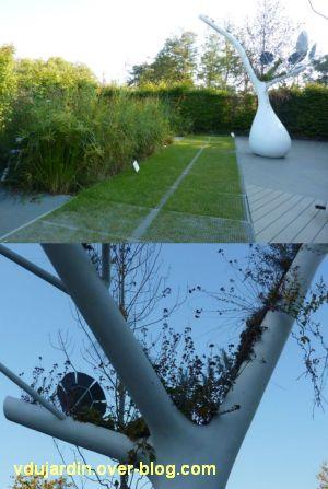 Chaumont-sur-Loire, festival des jardins 2011, deux vues du jardin 18 en automne (30 septembre)