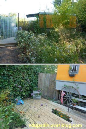 Chaumont-sur-Loire, festival des jardins 2011, deux vues du jardin 19 en automne (30 septembre)