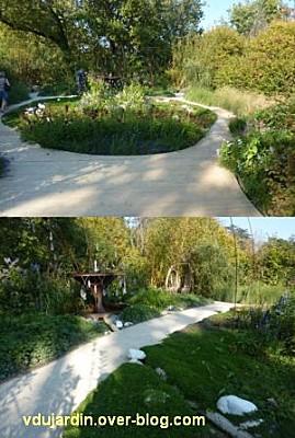Chaumont-sur-Loire, festival des jardins 2011, deux vues du jardin 6 en automne (30 septembre)