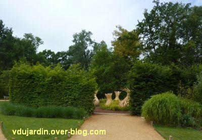 Chaumont-sur-Loire, festival 2011, le jardin 17, 1, l'entrée du jardin