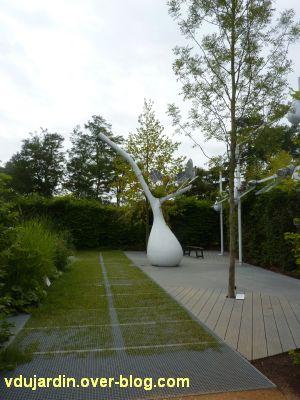 Chaumont-sur-Loire, festival 2011, le jardin 18, 1, vu depuis l'entrée