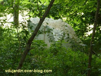 Chaumont-sur-Loire 2011, le parc, suite, 5, oeil dans la clairière de Poirier