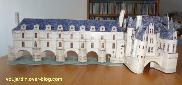 Chenonceau en puzzle 3D, la façade principale