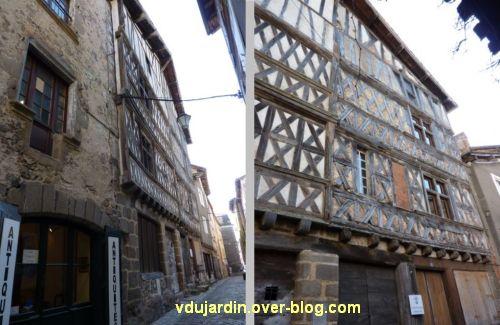 Confolens, maisons à pan de bois, 1, maison du duc d'Epernon
