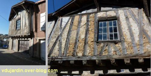 Confolens, maisons à pan de bois, 6, rue du Vieux Château