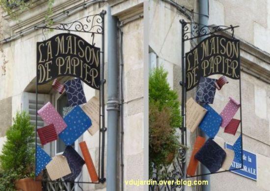 Enseigne de La maison de Papier à Poitiers