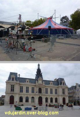 Les expressifs à Poitiers, édition 2011, devant l'hôtel de ville et derrière Notre-Dame