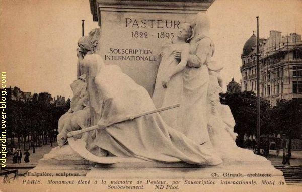 Paris, monument à Pasteur par Falguière, Carte postale ancienne, 4, la victoire sur la mort