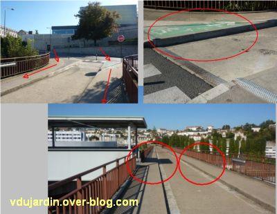 Poitiers, ville inaccessible au handicap, 04, prendre la grande passerelle au retour de la ville