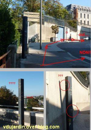 Poitiers, ville inaccessible au handicap, 05, aller de la grande passerelle au TAP