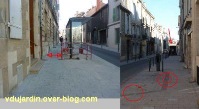 Poitiers, ville inaccessible au handicap, 07, remontée rue de la Marne