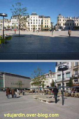 Poitiers, ville inaccessible au handicap, 11, place d'Armes, prière de bien voir