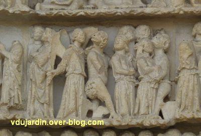 Poitiers, le jugement dernier de la cathédrale, 15, le jugement, partie centrale