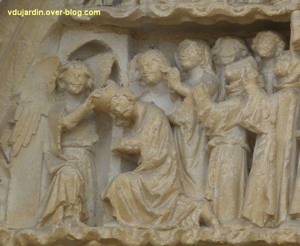 Poitiers, le jugement dernier de la cathédrale, 21, détail du paradis