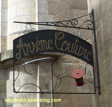 Poitiers, enseigne, 01, Arsène couture rue Scévole de Sainte-Marthe