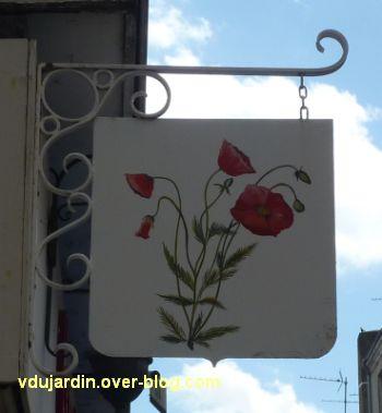 Poitiers, enseigne, 03, Coquelicot Grand'Rue