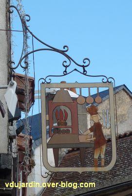 Poitiers, enseigne, 09, restaurant rue de la Regratterie