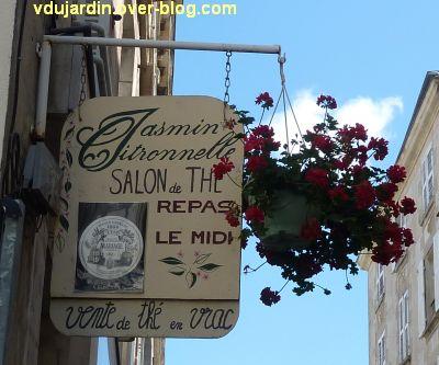 Poitiers, enseigne, 10, jasmin et citronelle rue Gambetta
