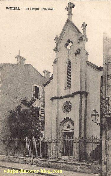 Poitiers, le temple protestant tel qu'il était de 1875 à 1944
