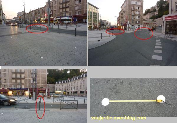 Poitiers, le rond-point de la gare pour aveugles kamikazes, 1, montage de quatre vues