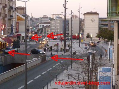 Poitiers, le rond-point de la gare pour aveugles kamikazes, 4, traversée option 2