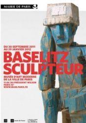 Affiche de l'exposition Georg Baselitz sculpteur au musée d'art moderne de la ville de Paris
