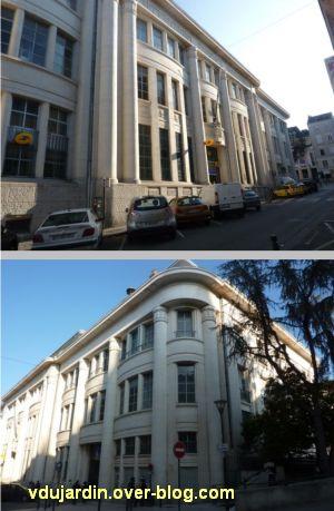 La poste centrale d'Angers, 1, deux vues générales de l'extérieur.
