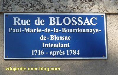 Nouvelle plaque de rue pour la rue de Blossac à Poitiers