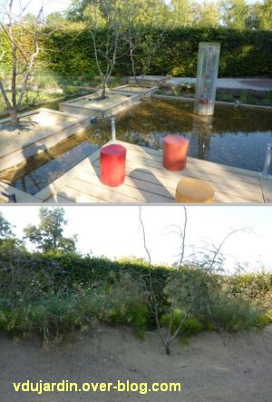 Chaumont-sur-Loire, festival des jardins 2011, deux vues du jardin 21 en automne (30 septembre)