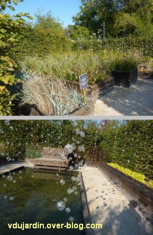 Chaumont-sur-Loire, festival des jardins 2011, deux vues du jardin 23 en automne (30 septembre)