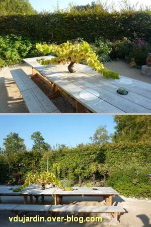 Chaumont-sur-Loire, festival des jardins 2011, deux vues du jardin 24 en automne (30 septembre)