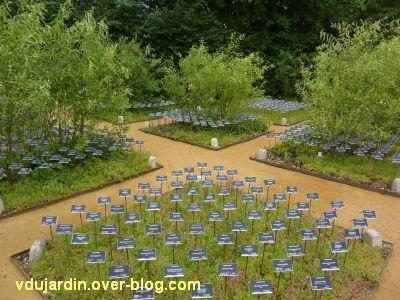 Chaumont-sur-Loire, festival 2011, le jardin 12, 4, la face noire des étiquettes