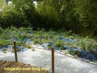 Chaumont-sur-Loire, festival 2011, le jardin 19bis, 2, les parterres bleus