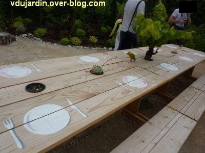 Chaumont-sur-Loire, festival 2011, le jardin 24, 2, la table est mise... et servie en fruits