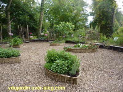 Chaumont-Sur-Loire 2011, le jardin expérimental, 02, des barquettes en osier
