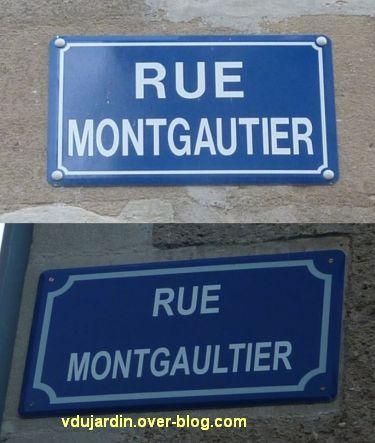 Les deux plaques de la rue Montgautier à Poitiers