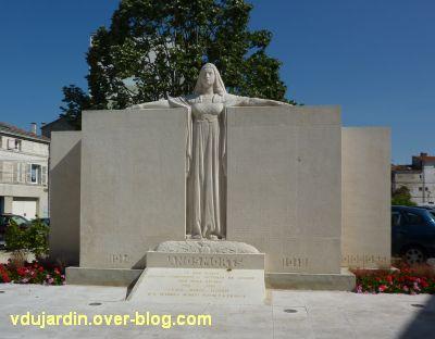 Niort, le monument aux morts de 1914-1918 par Poisson, 4, le monument à son nouvel emplacement