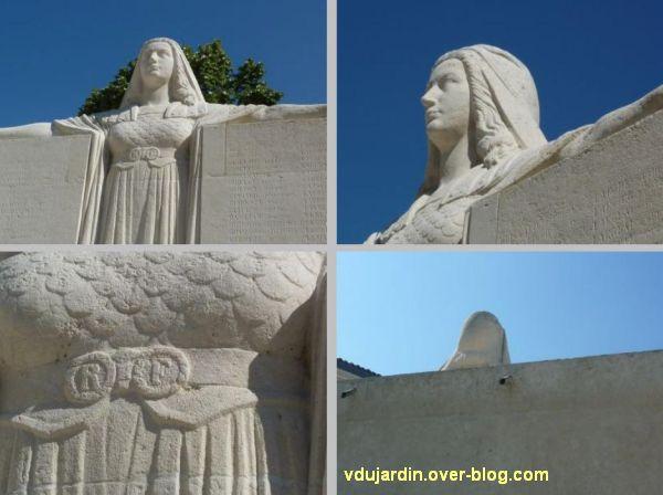 Niort, le monument aux morts de 1914-1918 par Poisson, 6, détail de la République